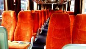orange colour for bus and minibus bali