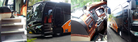 sewa bus bali full interior look set